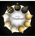 luxury christmas sale square banner christmas vector image vector image
