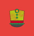 magic hat in hatching style vector image vector image