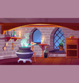magic room interior with cartoon witch stuff vector image vector image