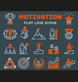 motivation concept chart icon business strategy vector image vector image