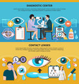 oculist eye care banners vector image vector image