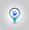 Pet shop pins vector image