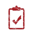 Red grunge list yes logo vector image vector image