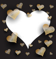 scribbled hearts background vector image vector image