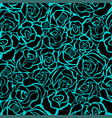 seamless retro background with black roses vector image vector image