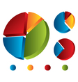set of graphic chart vector image vector image