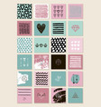 set of square artistic cards banners vector image