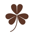 silhouette of clover three leaves in brown color vector image vector image