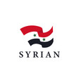 simple flag syria on white background vector image