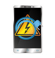 smartphone and electrical plug vector image