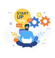 social media network technology business startup vector image vector image