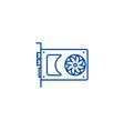 sound cardvideo card line icon concept sound vector image vector image