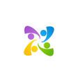 team work education logo symbol icon design vector image