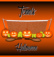 Tennis and Halloween vector image vector image