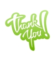 Thank You lettering Sticker vector image vector image