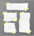 torn square paper set vector image vector image