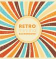 vintage swirly rays background with retro grunge vector image