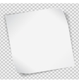 White paper sticker over transparent background vector image vector image