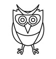 wild owl icon outline style vector image vector image