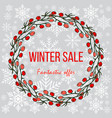 winter sale poster special offer discount vector image vector image