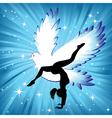 woman in yoga bird asana sport vector image