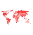 World map with names of sovereign countries and vector image vector image