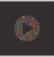 abstract media logo in line style vector image