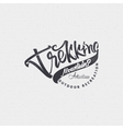 Trekking sign handmade differences made using vector image