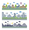 City Skylines icons set vector image