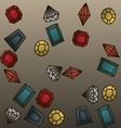 Hand drawn gems background vector image