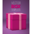 Realistic 3D Present Gift Box Cartoon Style vector image