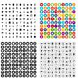100 utensil icons set variant vector image