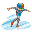 A simple coloured sketch of an athlete vector image vector image