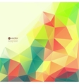 Abstract background with triangles and polygon vector image vector image
