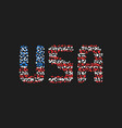 abstract usa text from colored dots vector image vector image