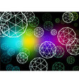 Atom particles colorful background vector image vector image