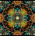 baroque ornamental seamless pattern greek key vector image vector image
