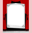 big paper sheet with a decorative frame vector image vector image