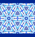 blue starry flower kaleidoscopic pattern vector image vector image