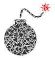 bomb collage of triangles vector image vector image