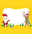 border graphic cartoon about santa claus and reind vector image vector image
