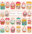 Candy Shop Sweets Background vector image