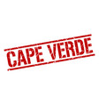 cape verde red square stamp vector image vector image