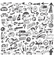 cars auto repair - doodles vector image