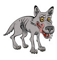 cartoon image of hungry wolf vector image vector image
