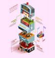 casino isometric infographics layout vector image vector image