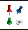 collection of various push pins vector image vector image