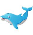 Cute cartoon dolphin vector image