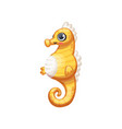 cute cartoon yellow sea horse drawing for children vector image