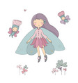 cute little fairy princess and wood elves vector image
